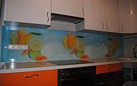 Кухонный фартук из стекла цитрус купить в Крыму
