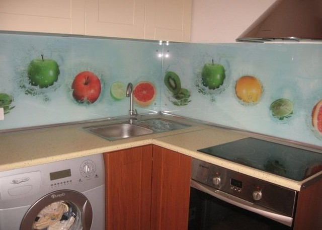 Кухонный фартук из стекла фрукты купить в Запорожье