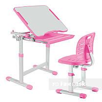 Комплект парта + стул трансформеры Piccolino III Pink FunDesk, фото 3