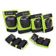 Защита наколенники, налокотники, перчатки Zelart SK-4680 METROPOLIS (12лет и старше,цвета в ассорт.)