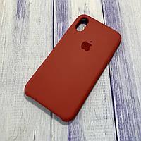 Чехол Silicone Case Apple iPhone X/Xs Raspberry
