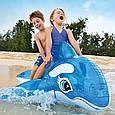Пляжный надувной матрас - плотик Intex 58523 NP «Касатка» для детей от 3-х лет, (152*114 см), синий, фото 7