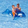 Пляжный надувной матрас - плотик Intex 58523 NP «Касатка» для детей от 3-х лет, (152*114 см), синий, фото 8
