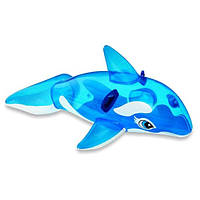 Пляжный надувной матрас - плотик Intex 58523 NP «Касатка» для детей от 3-х лет, (152*114 см), синий