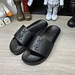 Мужские сандали Ysl Jimmy Sandals In Leather Black 43 Размер, фото 2