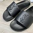 Мужские сандали Ysl Jimmy Sandals In Leather Black 43 Размер, фото 6