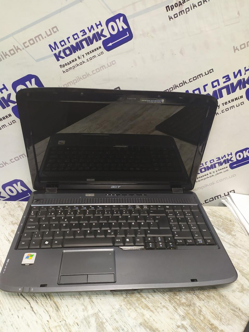 Ноутбук, notebook, Acer Aspire 5735Z, 2 ядра, 4 Гб ОЗУ, HDD 250 Гб