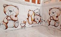 Защитные бортики в детскую кроватку ТМ Мэдисон