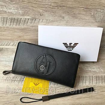 Шкіряний клат гаманець Armani Армані