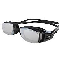 Очки для бассейна зеркальные черные Dolvor mod.4500M