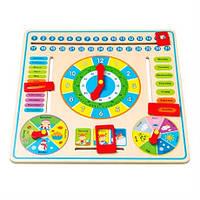 Игрушка часы и календарь Viga toys