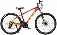 """Велосипед Oskar 27,5"""" М103 бордовый (рама - алюминий, переключатели Shimano)"""