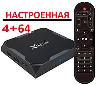 Настроенная TV приставка X96 MAX PLUS 4/64 ГБ (Смарт тв приставки на андроид, TV Box x96 mini)