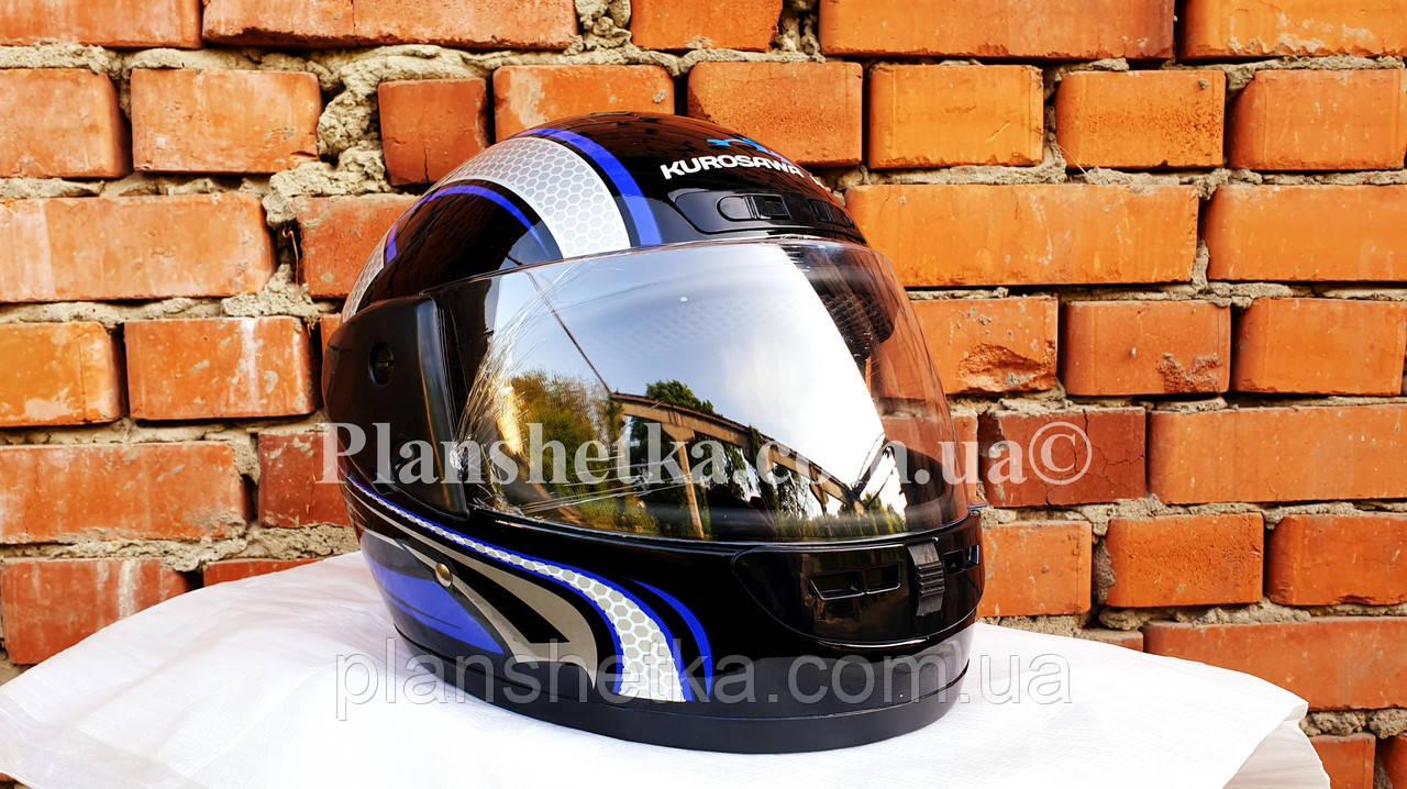 Шоломи для мотоциклів Hel-Met 101 чорний синій малюнок