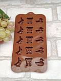 Силиконовая форма для желеек и конфет 20*10*1 см., 50/35 (розничная цена за 1 шт.+15 гр.), фото 3