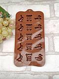 Силиконовая форма для желеек и конфет 20*10*1 см., 50/35 (розничная цена за 1 шт.+15 гр.), фото 4