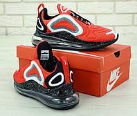 Мужские кроссовки Nike Air Max 720 в стиле найк аир макс красные  (Реплика ААА+)