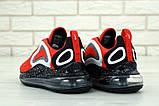 Чоловічі кросівки Nike Air Max 720 в стилі найк аір макс червоні (Репліка ААА+), фото 3