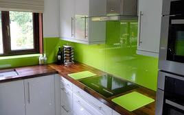 Кухонный фартук крашеный зеленый купить в Запорожье
