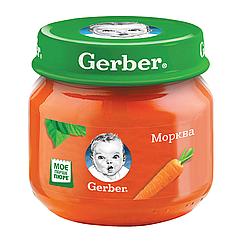 Пюре овочеве Gerber Морква, 6+, 80г