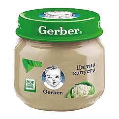 Пюре овочеве Gerber Цвітна капуста, 6+, 80г