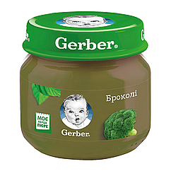 Пюре овочеве Gerber Броколі, 6+, 80г