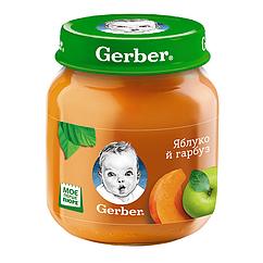 Пюре плодово-овочеве Gerber Яблуко й гарбуз, 6+, 130г