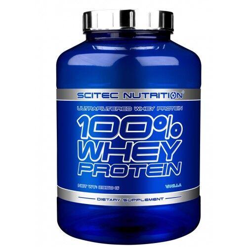 Протеин, Scitec 100% Whey Protein 2350 грамм, Клубника