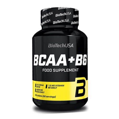 БЦАА + Б6 Биотеч, Biotech USA BCAA+B6 100 таб