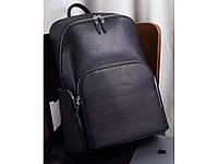 """Кожаный рюкзак для ноутбука 13"""" 14""""  вместительный анатомическая дышащая спинка черный"""