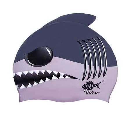 Детская шапочка для плавания Shark, фото 2