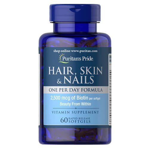 Puritan's Pride Hair, Skin Nails One Per Day Formula 60 капсул
