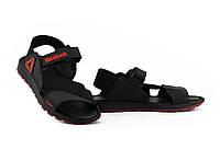 Мужские сандали кожаные летние черные-красные Anser Crossfit R5, фото 1