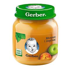 Пюре фруктове Gerber Яблуко і Персик, 6+, 130г