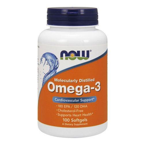 Омега 3, NOW Omega-3 100 капсул