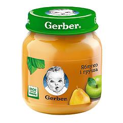 Пюре фруктове Gerber Яблуко і Груша, 6+, 130г