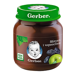 Пюре фруктове Gerber Яблуко і Чорнослив, 6+, 130г