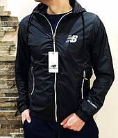 Куртка ветровка мужская черная New Balance
