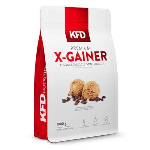 Гейнер, KFD Premium X-Gainer 1000 грамм, Клубника-Банан