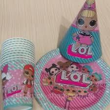 Набір одноразового посуду для дитячого свята Ляльки Лол