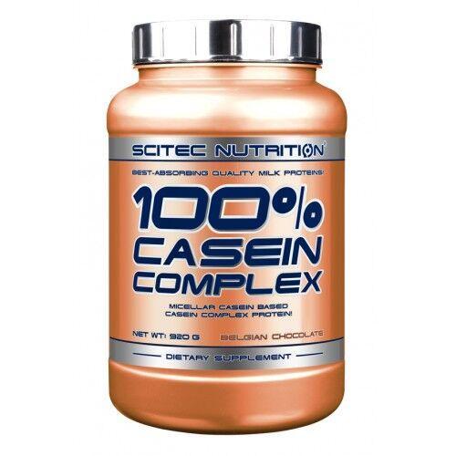 Протеин, Scitec 100% Casein Complex 920 грамм, Бельгийский шоколад