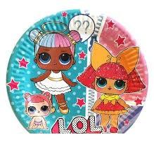 Тарелки детские бумажные одноразовые  Куклы Лол 10 шт