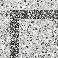 30х30 Керамическая плитка керамогранит пол Степс Steps corner угол  серый, фото 1