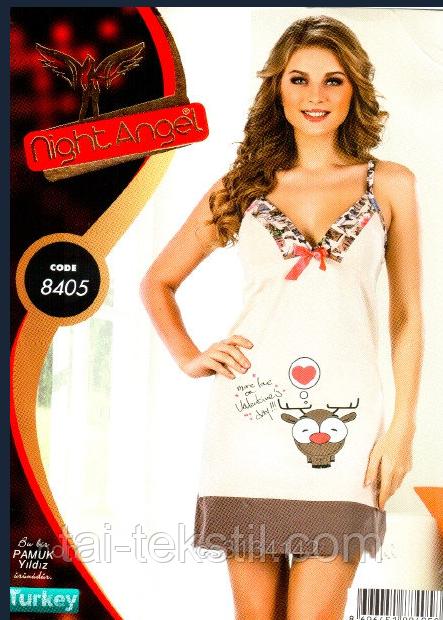 Ночная рубашка-домашний сарафан узкая бретель Night Angel № 8405