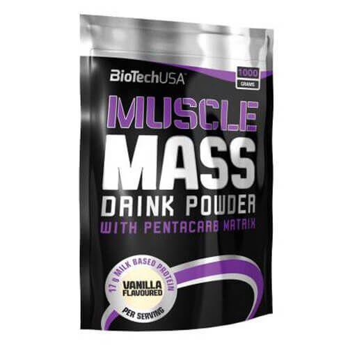 Гейнер, BioTech Muscle Mass 1000 грамм, Ваниль