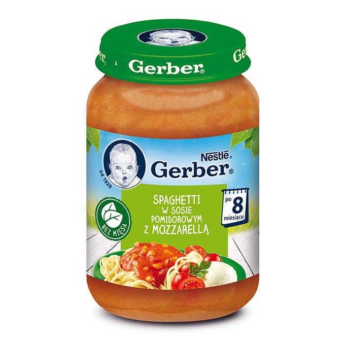Рагу овочеве Gerber зі спагетті та сиром Моцарелла в томатному соусі, 8+, 190г
