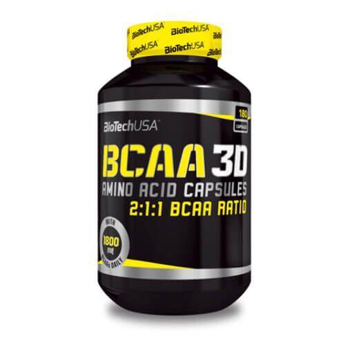 БЦАА Биотеч BioTech USA BCAA 3D 180 капсул