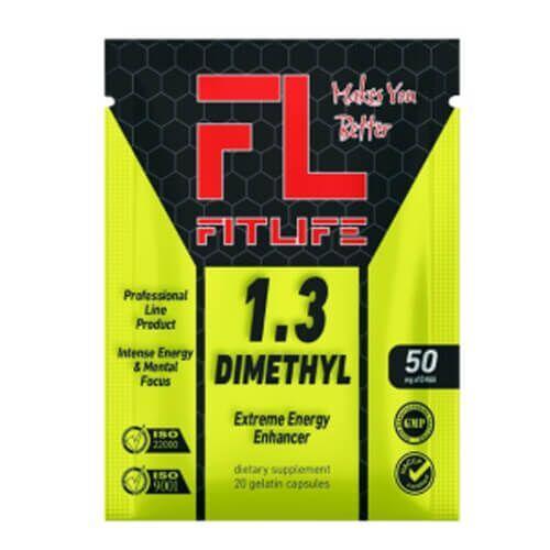 Предтренировочный комплекс, FitLife 1.3-Dimethyl 20 капсул