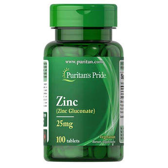 Puritan's Pride Zinc 25 mg 100 таб