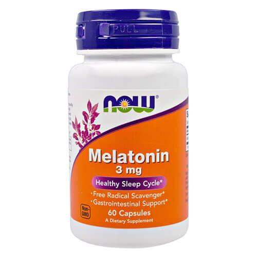 NOW Melatonin 3 mg 60 капсул